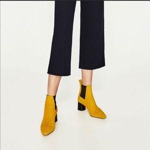 Zara Mustard Boots, Euro Size 38. Preloved